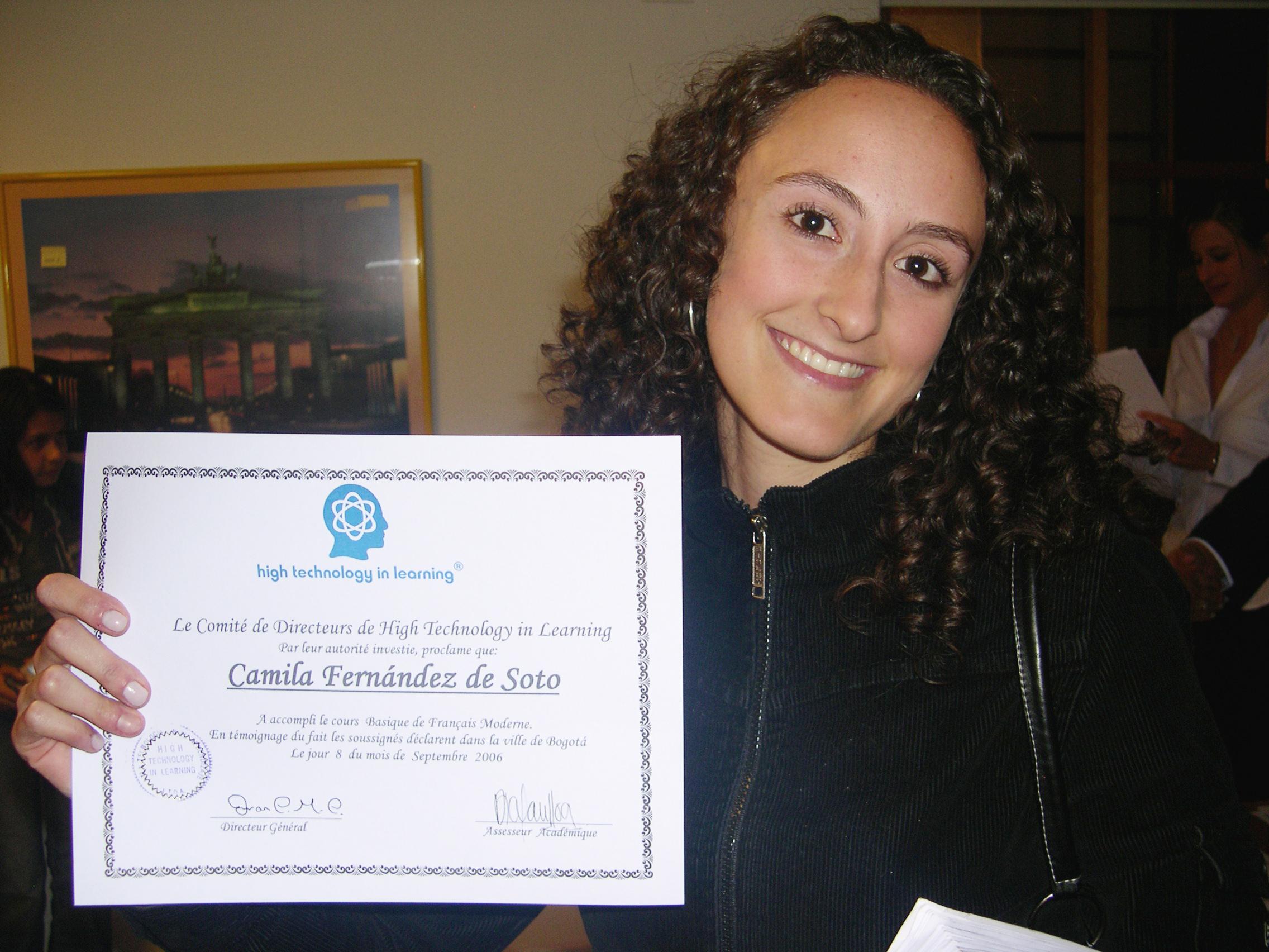 Actividad Certificados en Htl Cursos de idiomas